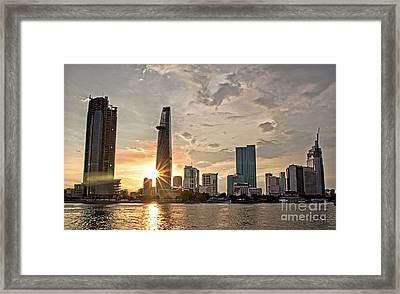 Afternoon City Framed Print
