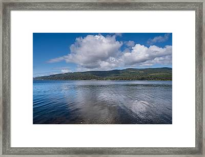 Afternoon Clouds Over Big Lagoon Framed Print by Greg Nyquist