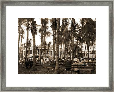 Afternoon Concert Hour, Royal Poinciana, Palm Beach, Fla Framed Print by Litz Collection