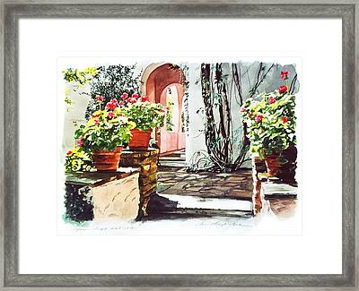Afternoon Delight - Hotel Bel-air Framed Print by David Lloyd Glover
