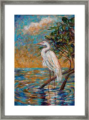 Afternoon Egret Framed Print