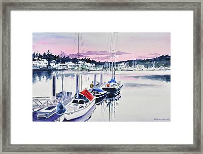 Afternoon Gig Harbor Framed Print