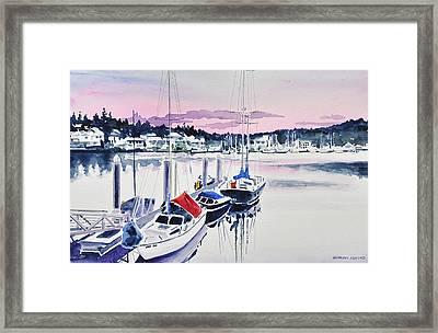 Afternoon Gig Harbor Framed Print