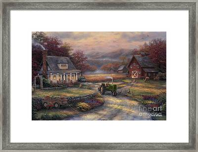 Afternoon Harvest Framed Print