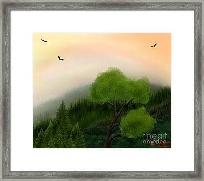Afternoon Hills Framed Print