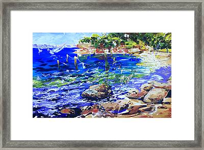 Afternoon Hues Nielsen Park Sydney Framed Print by Shirley  Peters