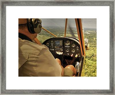 Afternoon In A J3 Cub Framed Print