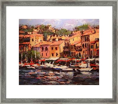 Afternoon In Cassis Framed Print by R W Goetting