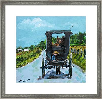 Afternoon In Ethridge Framed Print by Susan E Jones