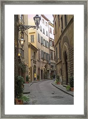Afternoon In Florence Framed Print