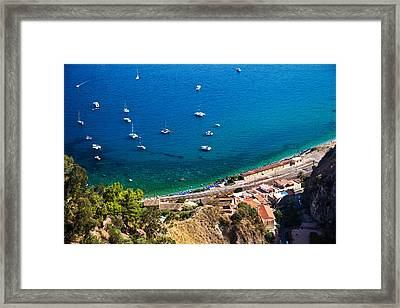Framed Print featuring the photograph Afternoon In Taormina by Brad Brizek
