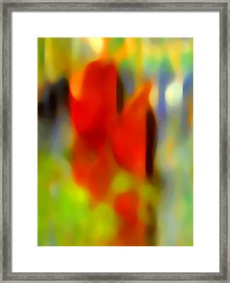 Afternoon In The Park Framed Print by Amy Vangsgard