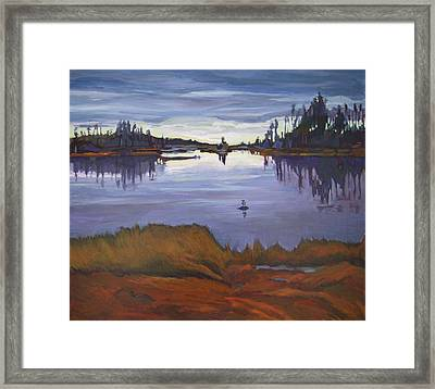 Afternoon In The Salt Marshes Framed Print