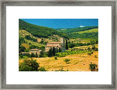 Afternoon In Tuscany  Framed Print