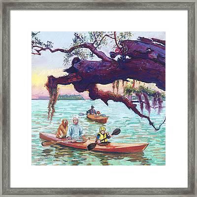 Afternoon Kayak Framed Print by David Randall