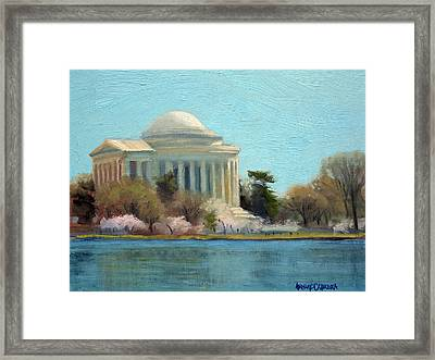 Afternoon Light Jefferson Memorial Framed Print