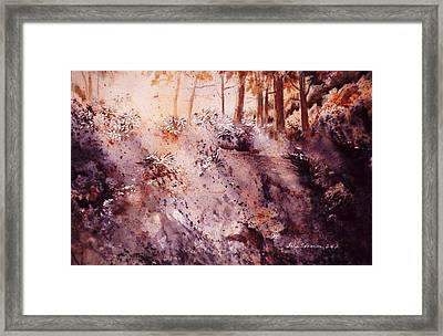 Framed Print featuring the painting Afternoon Light by John  Svenson