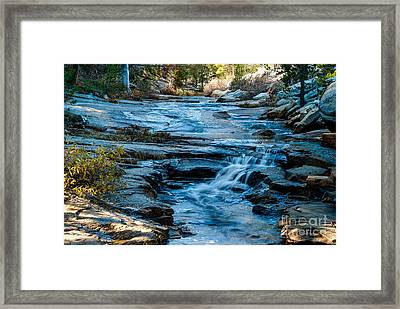 Afternoon Light On River. 1-7706  Framed Print