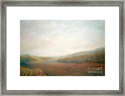Afternoon Meadow Framed Print by Addie Hocynec