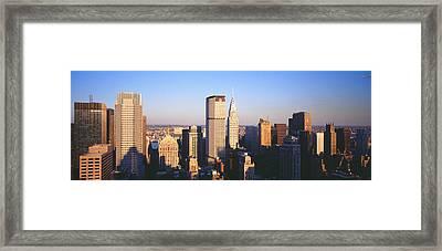 Afternoon Midtown Manhattan New York Ny Framed Print