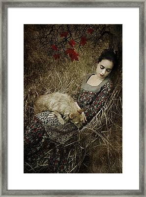 Afternoon Nap Framed Print by Cambion Art