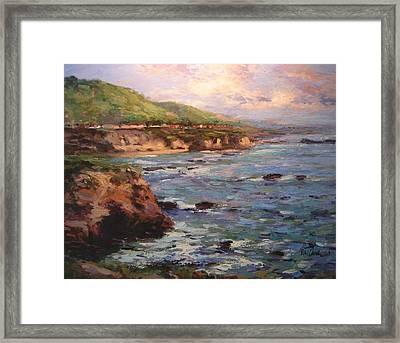Afternoon Near Shell Beach Framed Print by R W Goetting