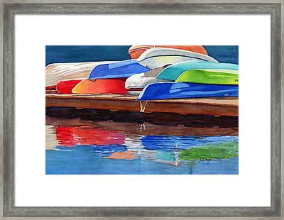Afternoon Pileup Framed Print