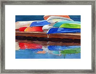 Afternoon Pileup Framed Print by Judy Mercer