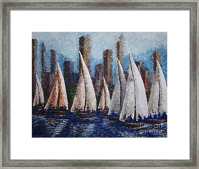 Afternoon Race 2012 Framed Print by Tatjana Popovska