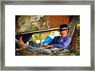 Afternoon Relaxation Framed Print by Allan Rufus