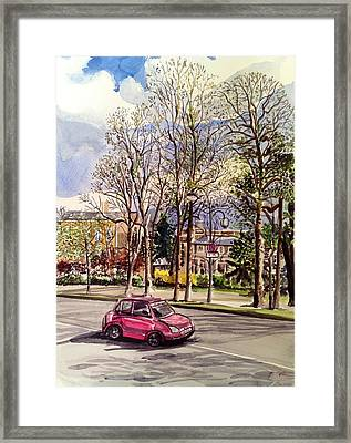 Afternoon Ride Framed Print by Aditi Bhatt