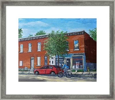 Afternoon Ride Pointe St Charles Framed Print by Reb Frost