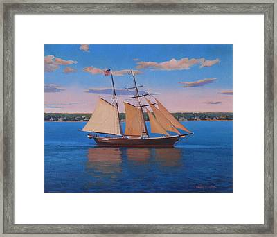 Afternoon Sail Framed Print by Dianne Panarelli Miller