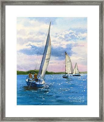 Afternoon Sail Framed Print by Karol Wyckoff