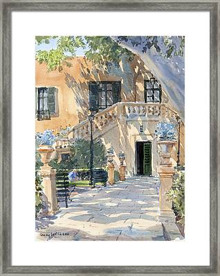 Afternoon Shade Framed Print by Lucy Willis