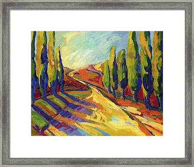 Afternoon Shadows Framed Print by Konnie Kim