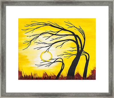 Afternoon Silhouette Framed Print by Melissa Smith