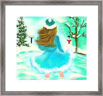 Framed Print featuring the drawing Afternoon Skating by Lori  Lovetere