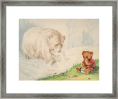 Framed Print featuring the drawing Afternoon Snack by Ethel Quelland