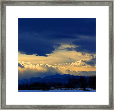 Framed Print featuring the photograph Afternoon Storm by Silke Brubaker