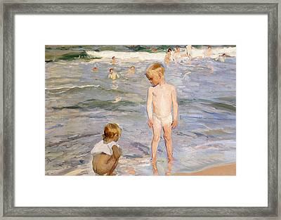 Afternoon Sun Framed Print by Joaquin Sorolla y Bastida