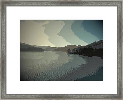 Afternoon Sun Over Ladybower Reservoir,  Afternoon Sun Framed Print by Litz Collection