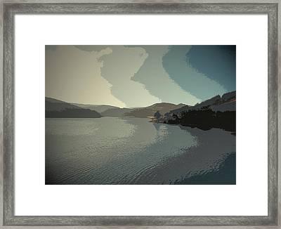 Afternoon Sun Over Ladybower Reservoir,  Afternoon Sun Framed Print