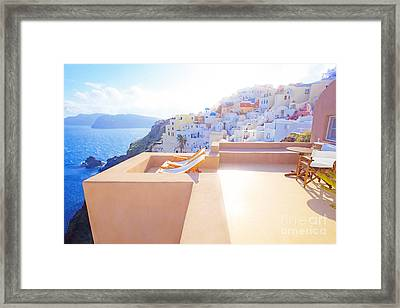 Afternoon Sunlight Framed Print by Aiolos Greek Collections