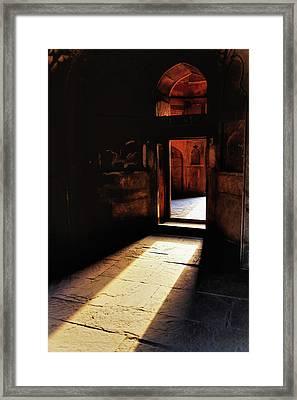 Afternoon Sunlight Through Doorway Framed Print
