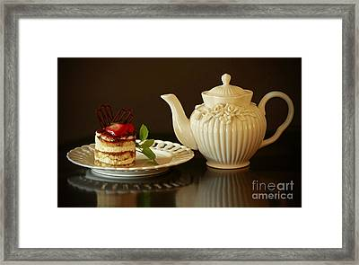 Afternoon Tea And Tiramisu Framed Print by Inspired Nature Photography Fine Art Photography
