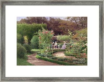 Afternoon Tea By The Laurel Arch Framed Print by Georgina M de lAubiniere