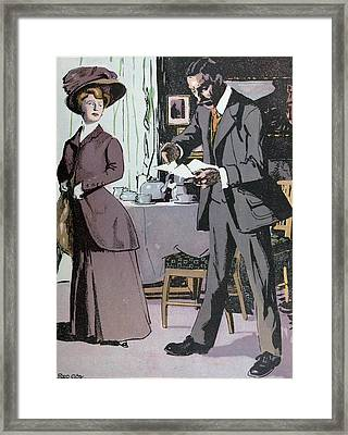 Afternoon Tea, Tea, Lady, Man, Table, Teapot, Tea,  Food Framed Print