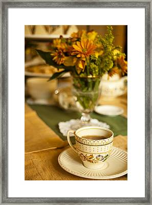 Afternoon Tea Time Framed Print by Andrew Soundarajan