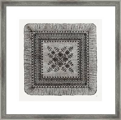 Afternoon Teacloth, Needlework Framed Print